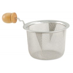 "3"" Teapot Strainer with Wood Handle"
